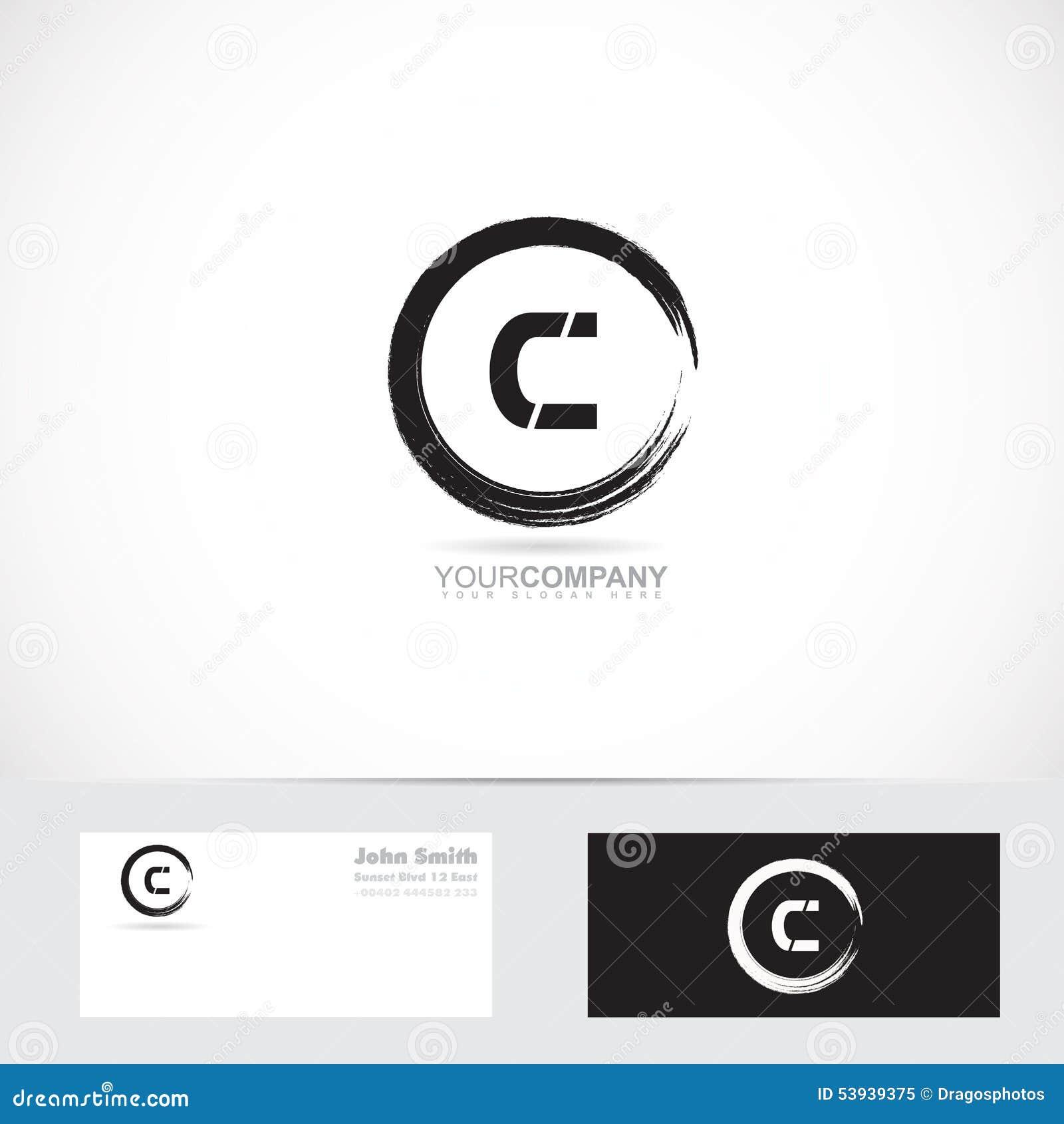 Grunge Letter C Circle Logo Stock Vector Illustration Of Vector