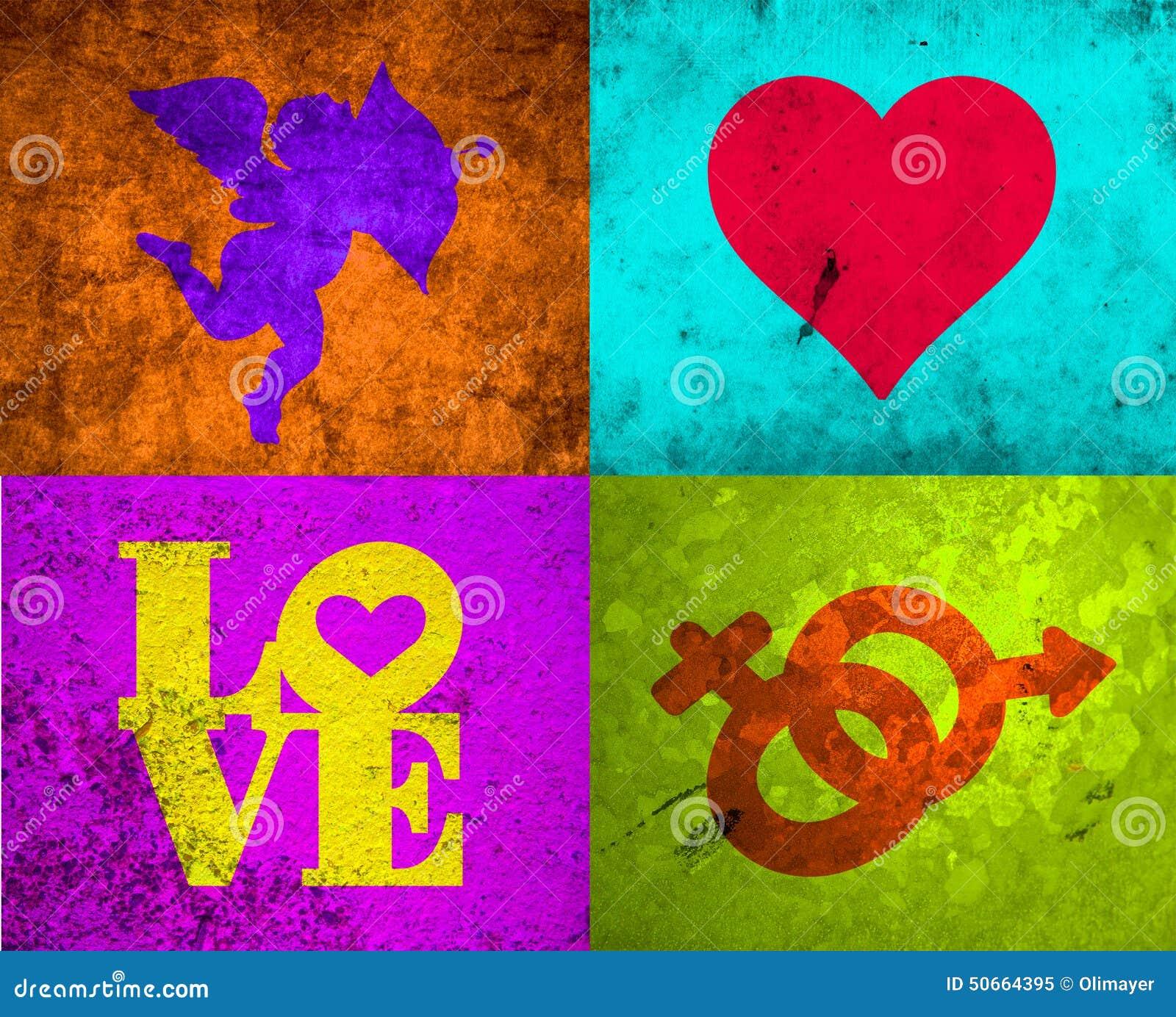 Grunge love stock illustration illustration of birthday 50664395 royalty free illustration biocorpaavc Images