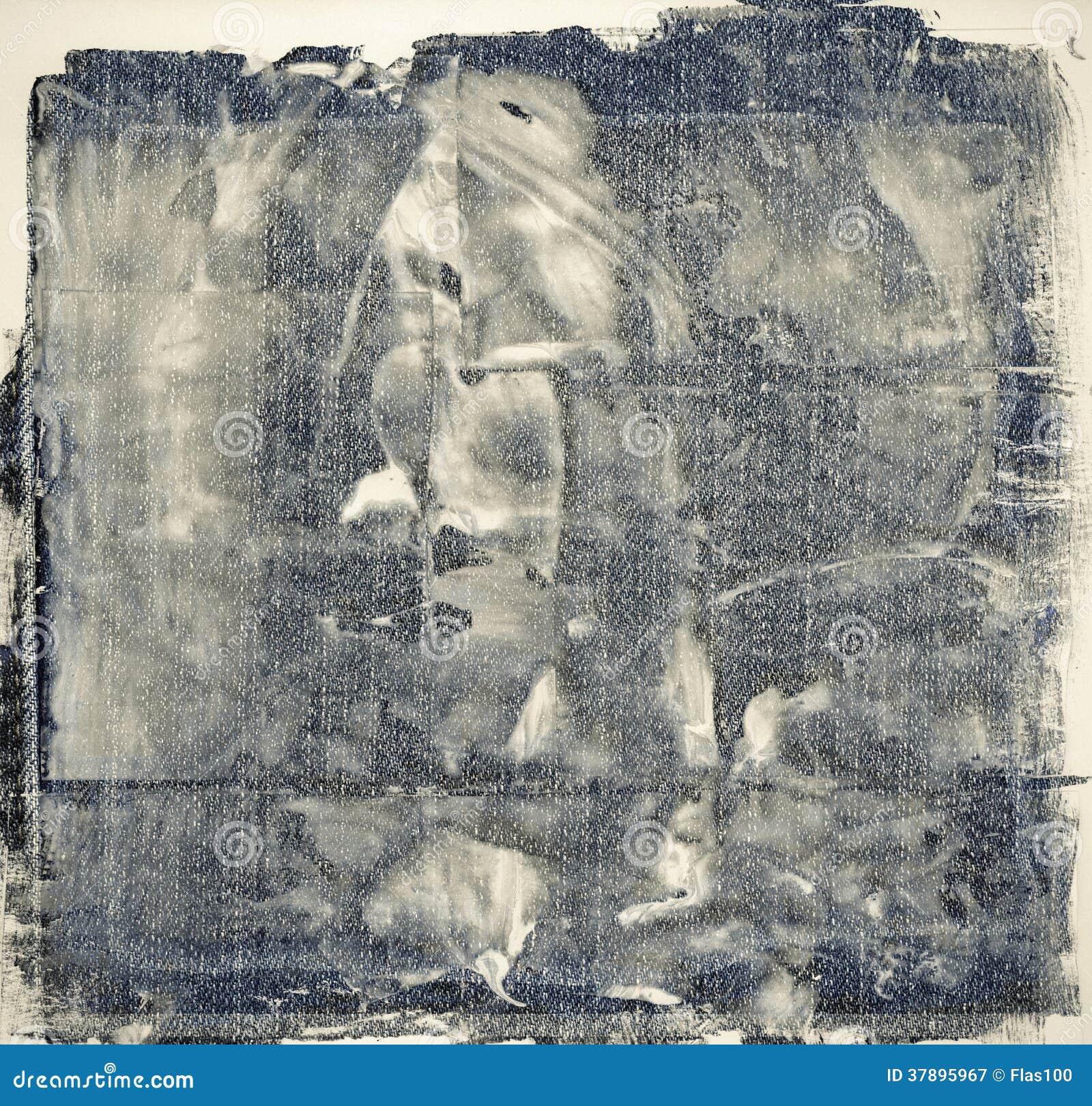 Grunge målad jeansbakgrund