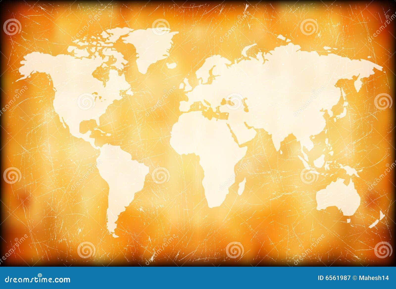 Grunge mapy świat