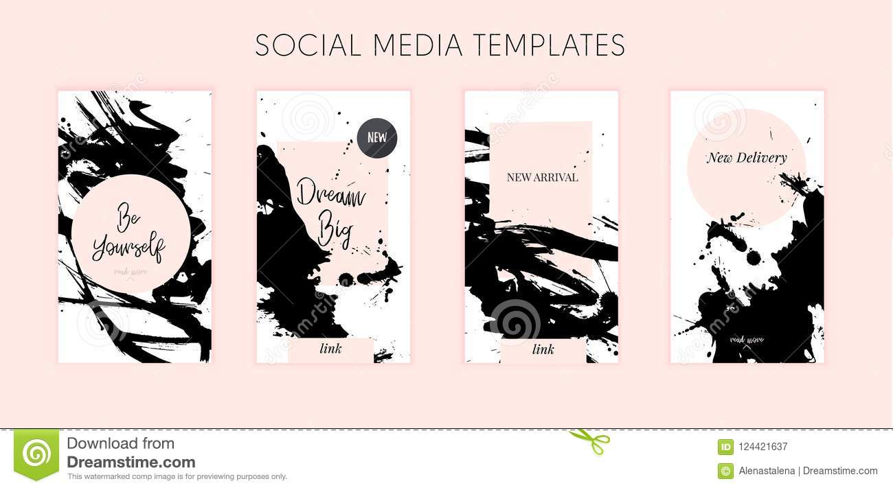Grunge Media Template With Typography Quote For Promotion Story - Mediatemplate