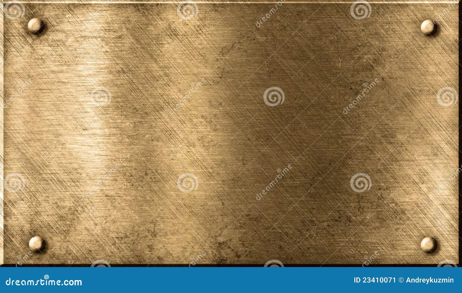 Grunge Metal Brass Or Bronze Background Stock Image