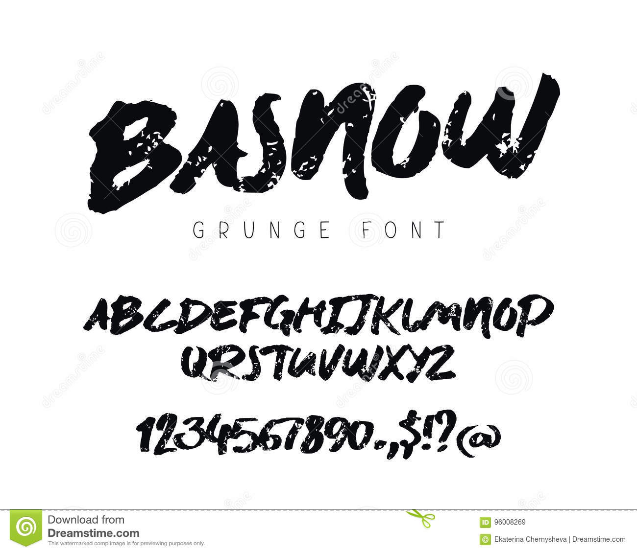 Grunge Font Stock Vector Illustration Of Distressed Text 9022158