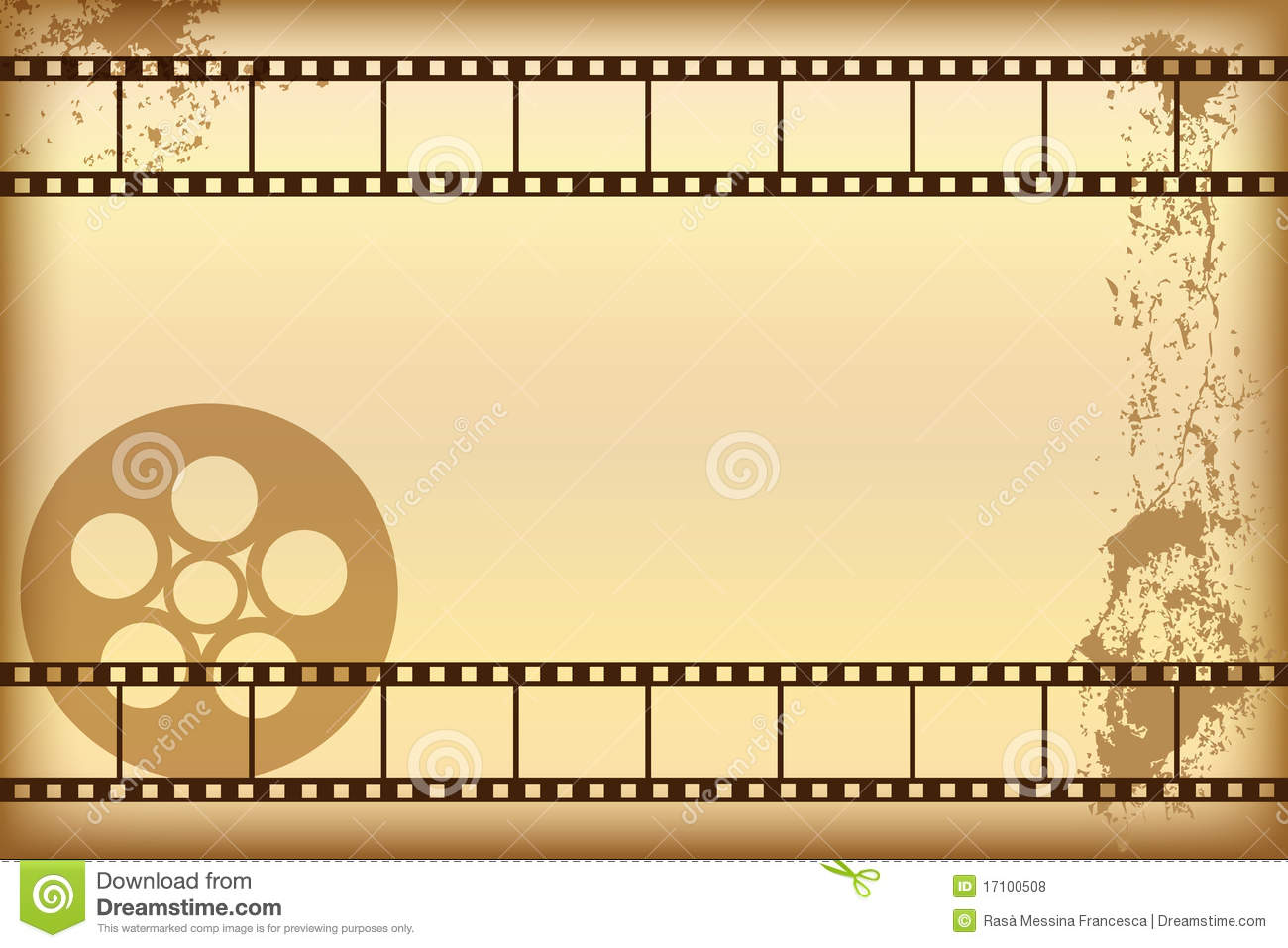 Grunge movie background stock vector. Image of dirty ...