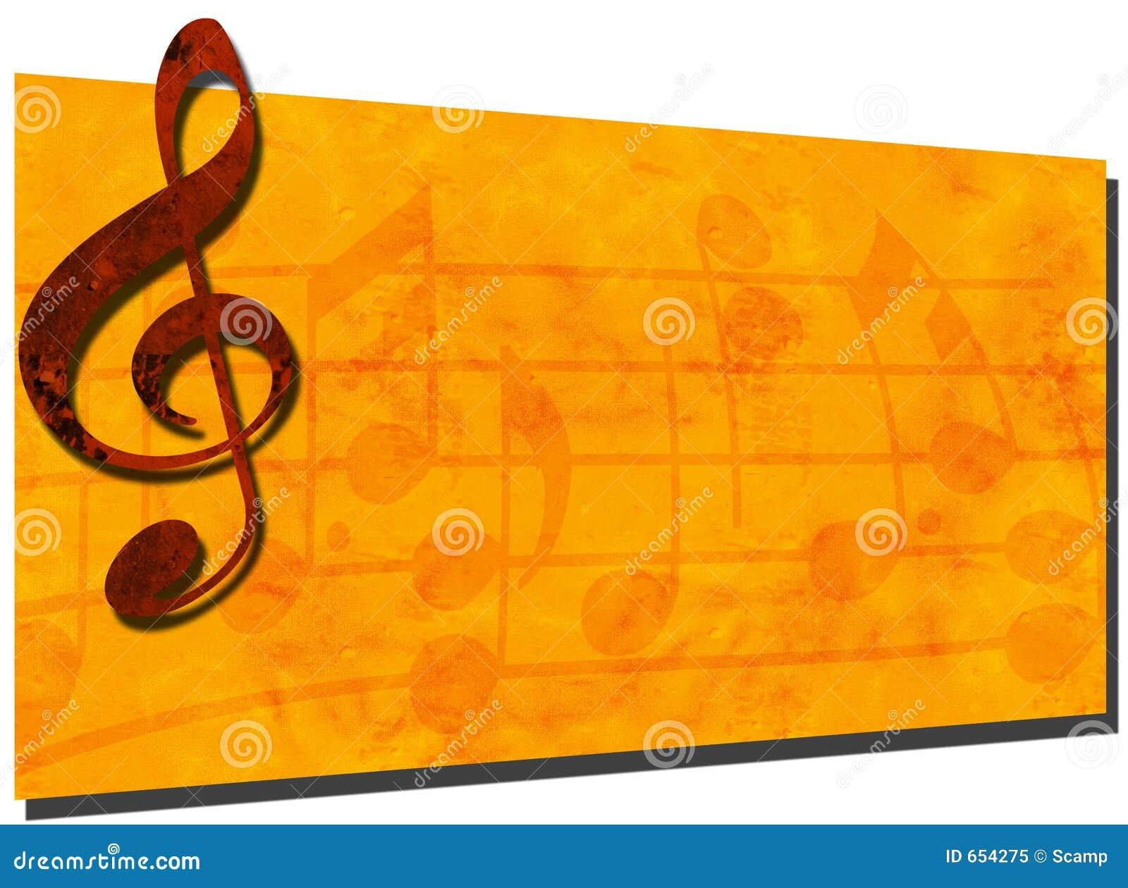 Grunge Music Backdrop Banner 2 Stock Illustration Image