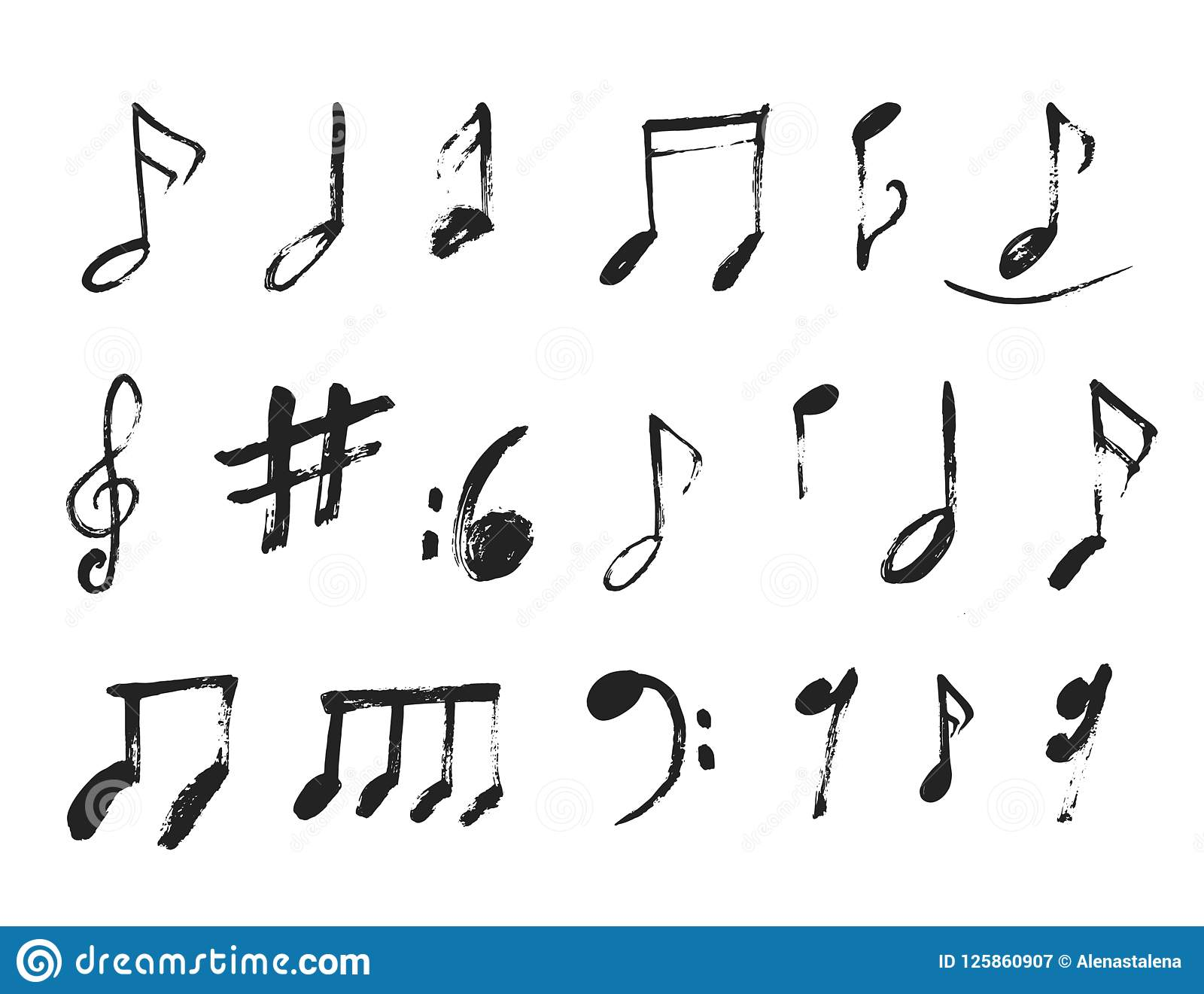 Grunge Music Notes Background For Jazz Cover Symphony Motif