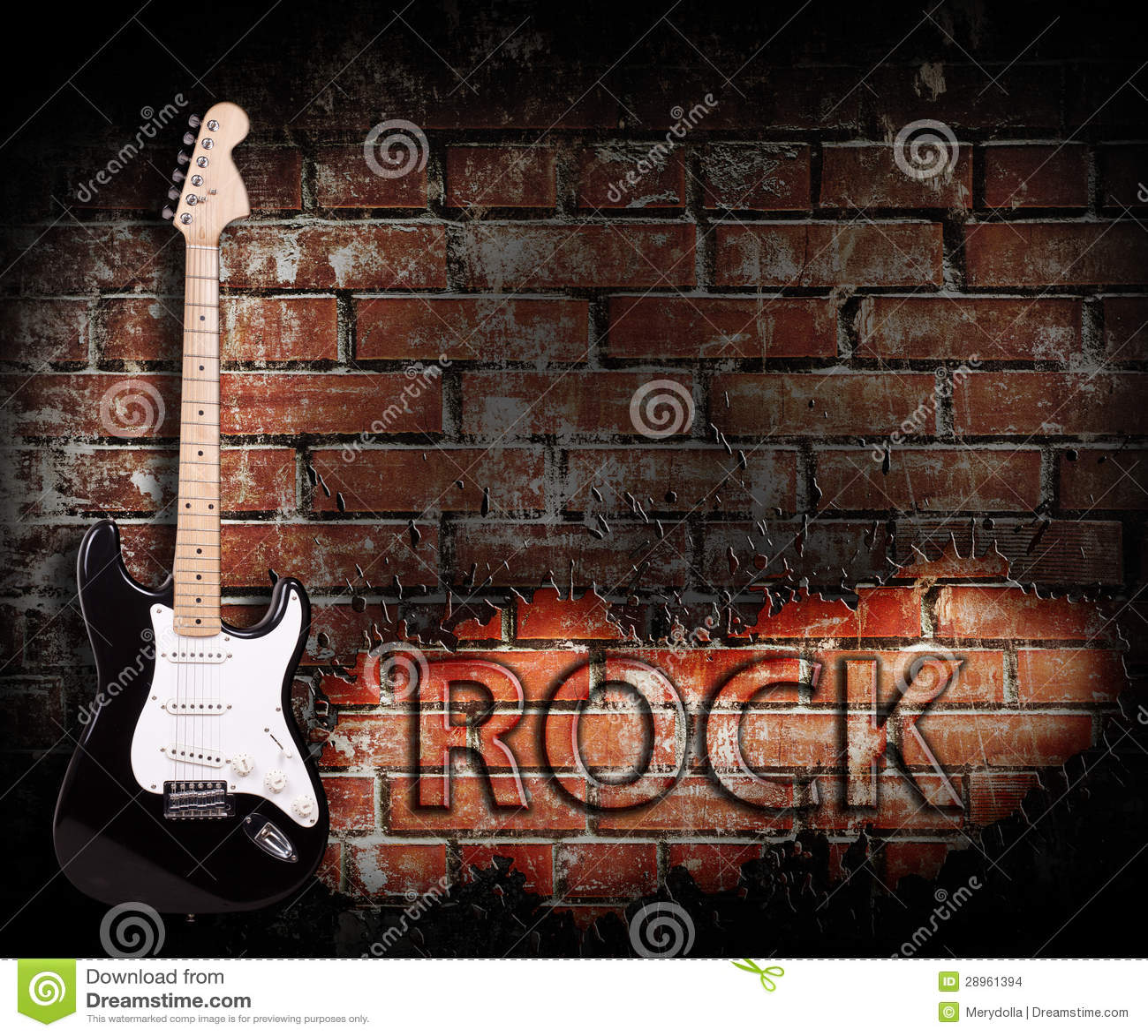 Grunge muzyki rockowej plakat