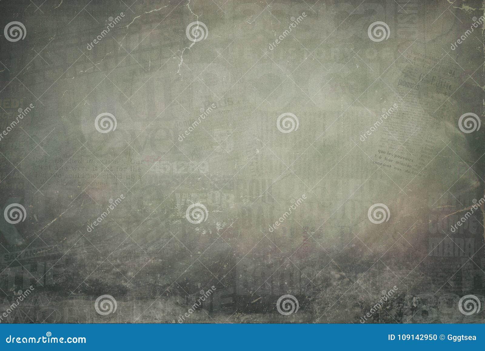 Grunge newspaper collage background
