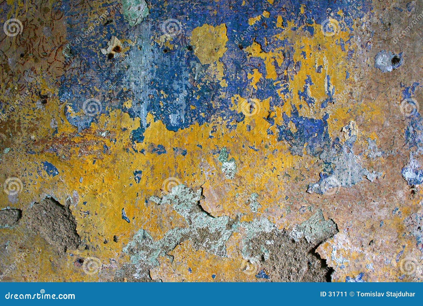 Grunge obierania tekstury ściany