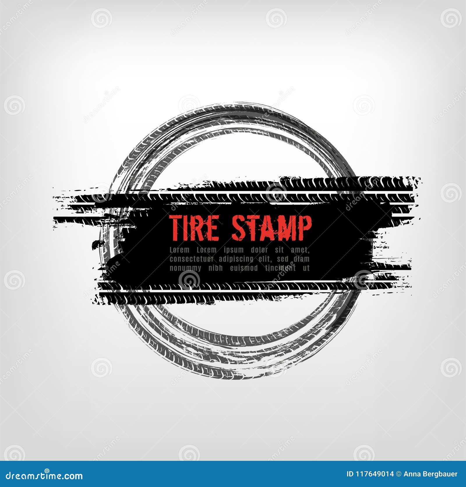Grunge Off Road Tire Stamp Stock Vector Illustration Of Element 117649014