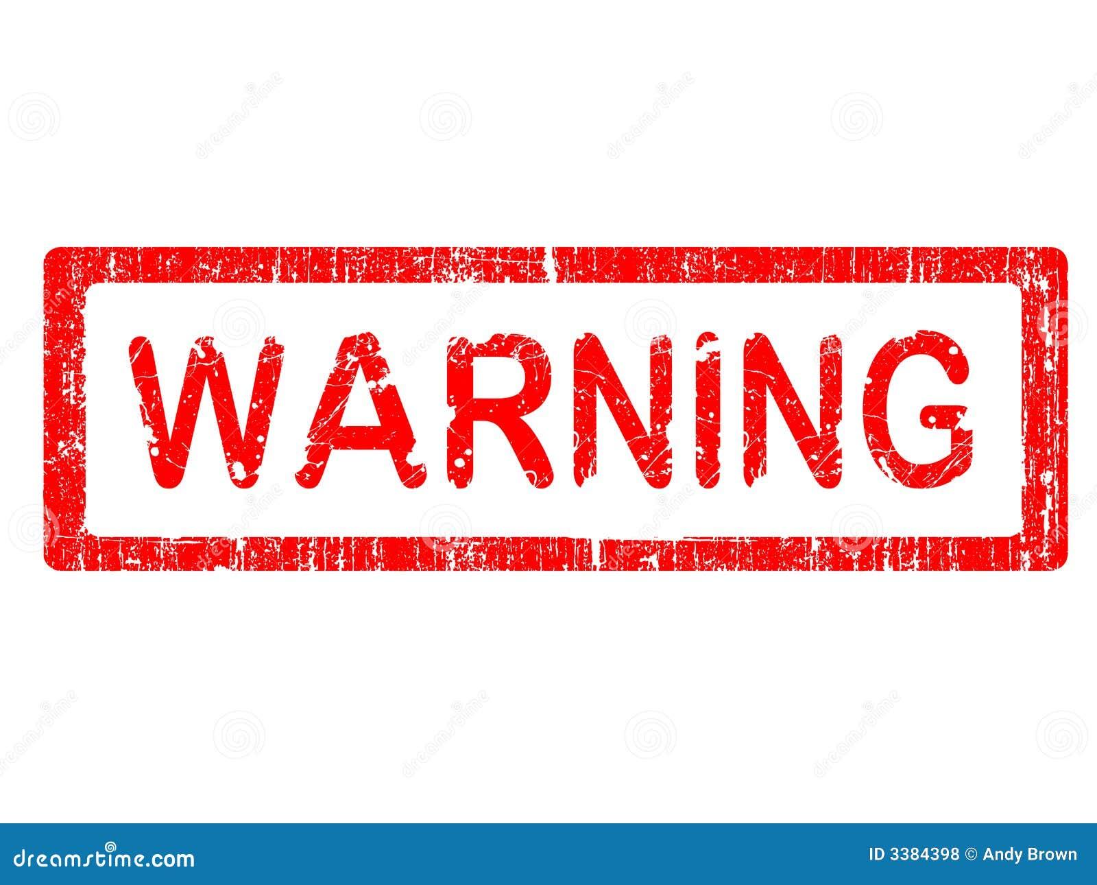 Grunge Office Stamp - WARNING Royalty Free Stock Photos - Image ...