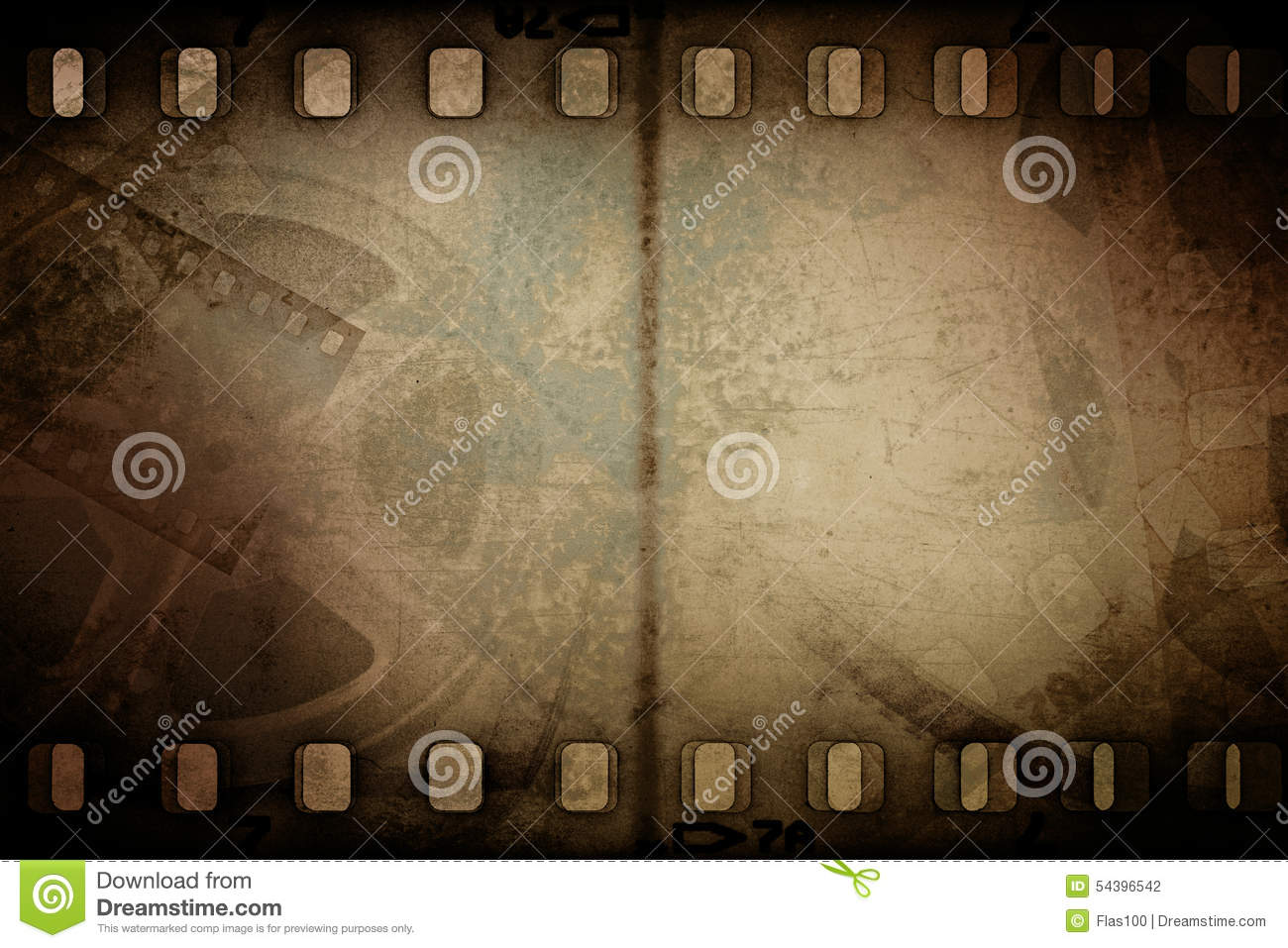 Download Grunge Old Motion Picture Reel With Film Strip Stock Photo - Image of cinematography, picture: 54396542