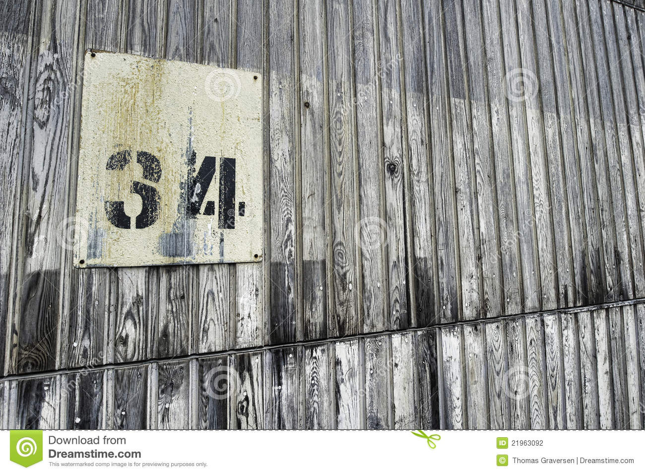 grunge old wall with number 34 stock photo image of wood