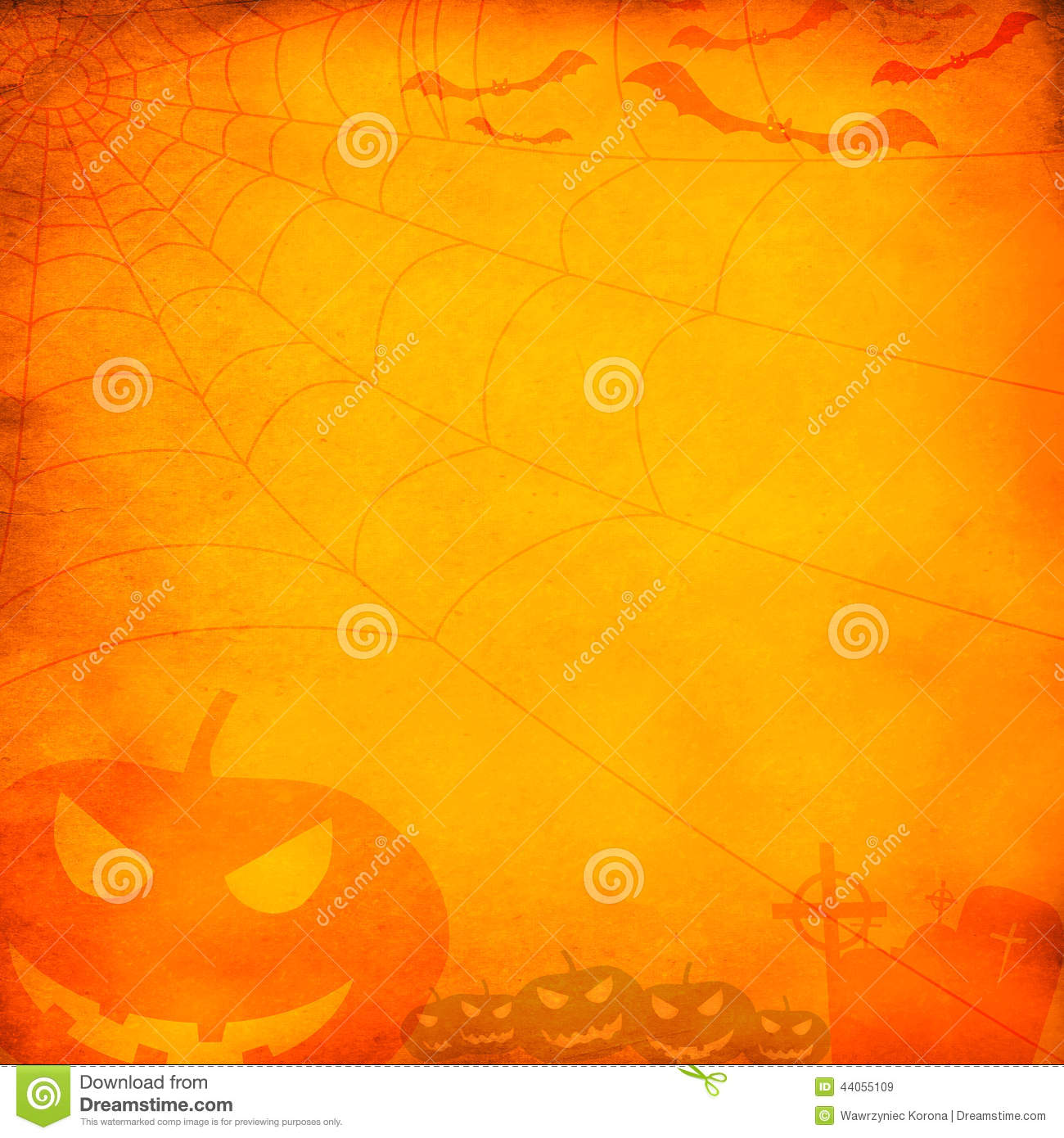 grunge orange halloween background stock photo image