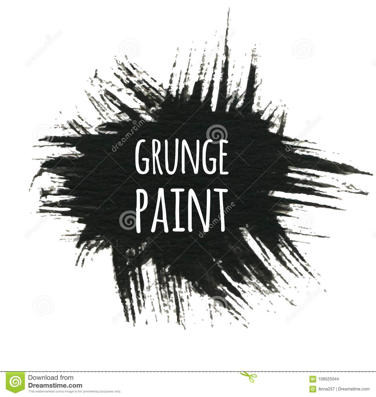 Grunge paint background, vector illustration for your design