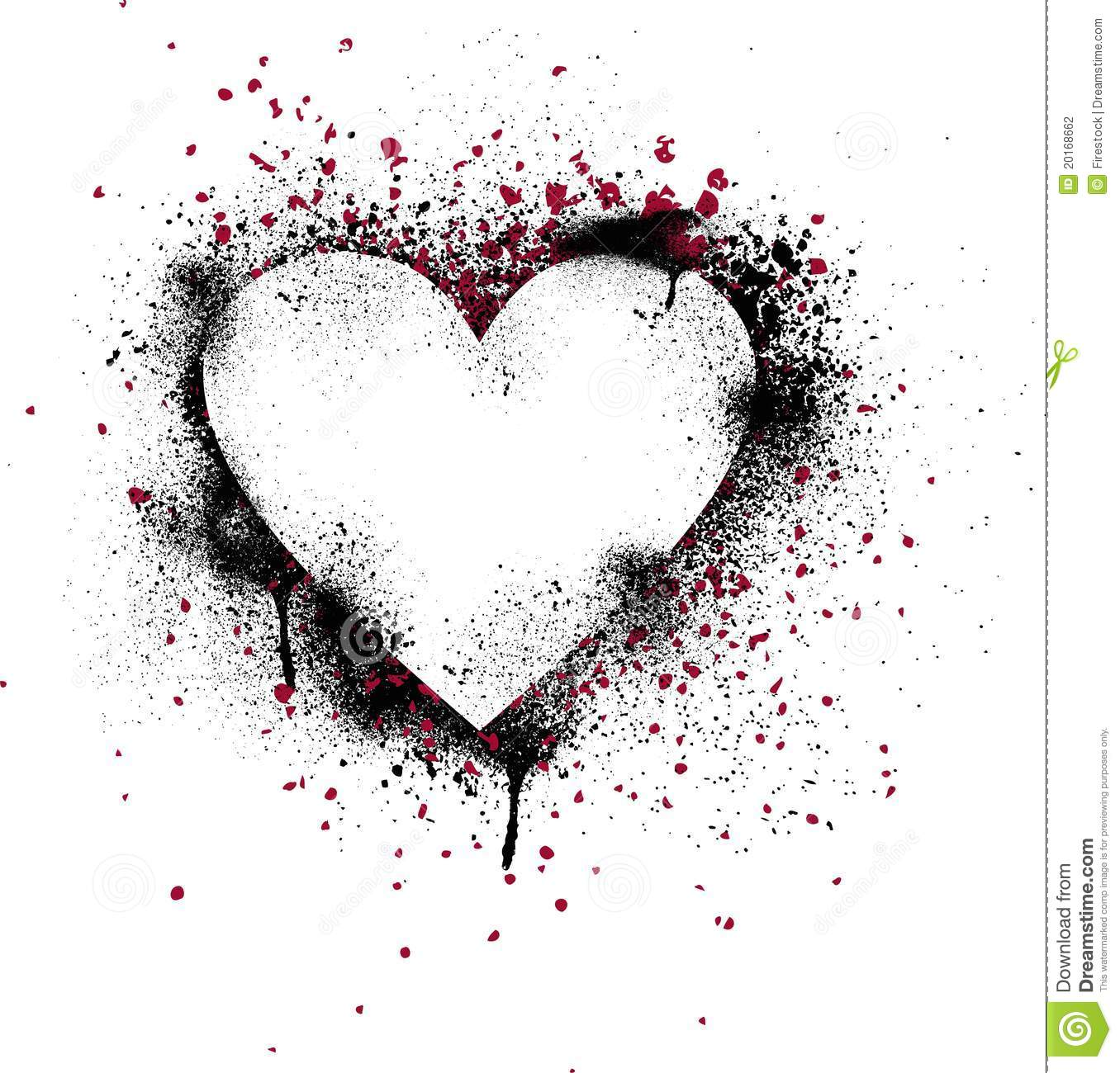 Grunge paint splatter heart stock photography image 20168662 - Resource com verven ...