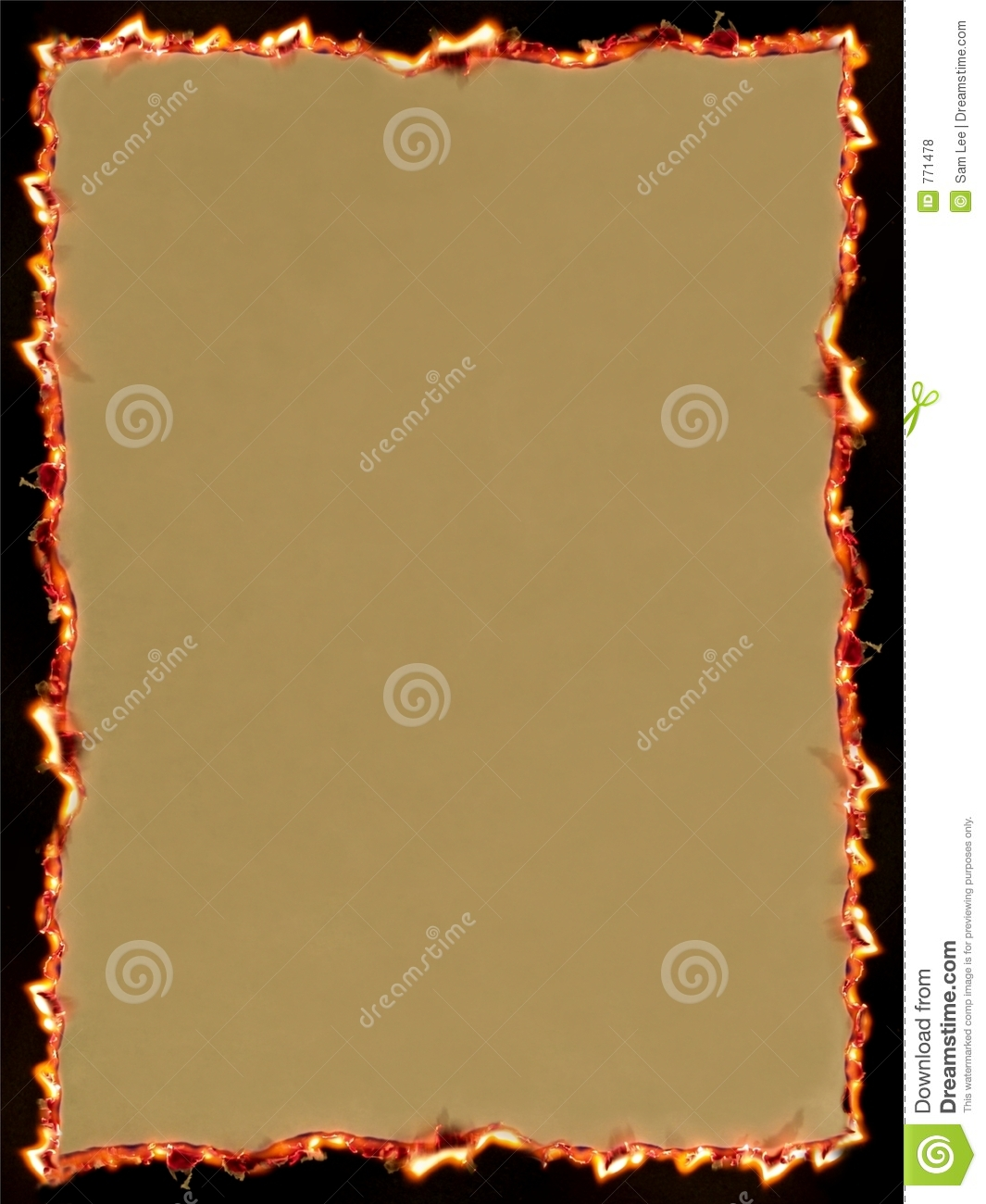 Grunge Paper On Fire Royalty Free Stock Photos - Image: 771478