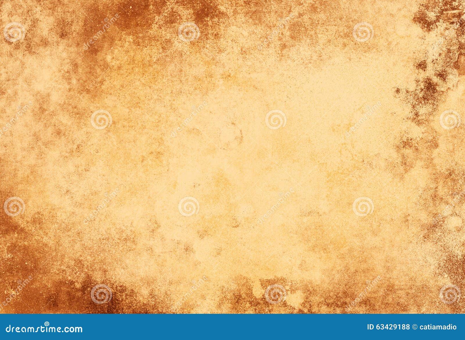 grunge paper texture light brown frame stock illustration