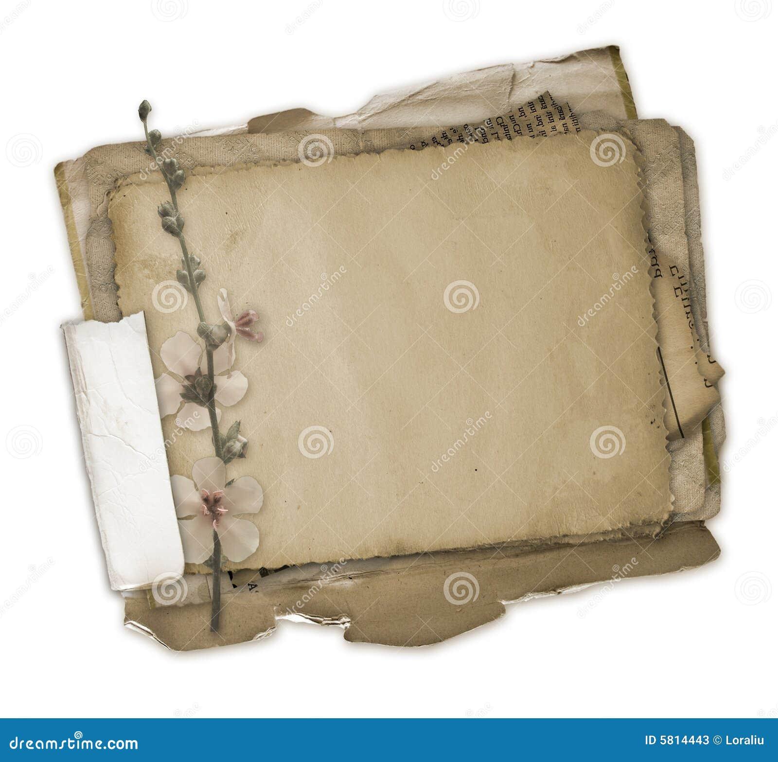 Grunge papers design in scrapbooking