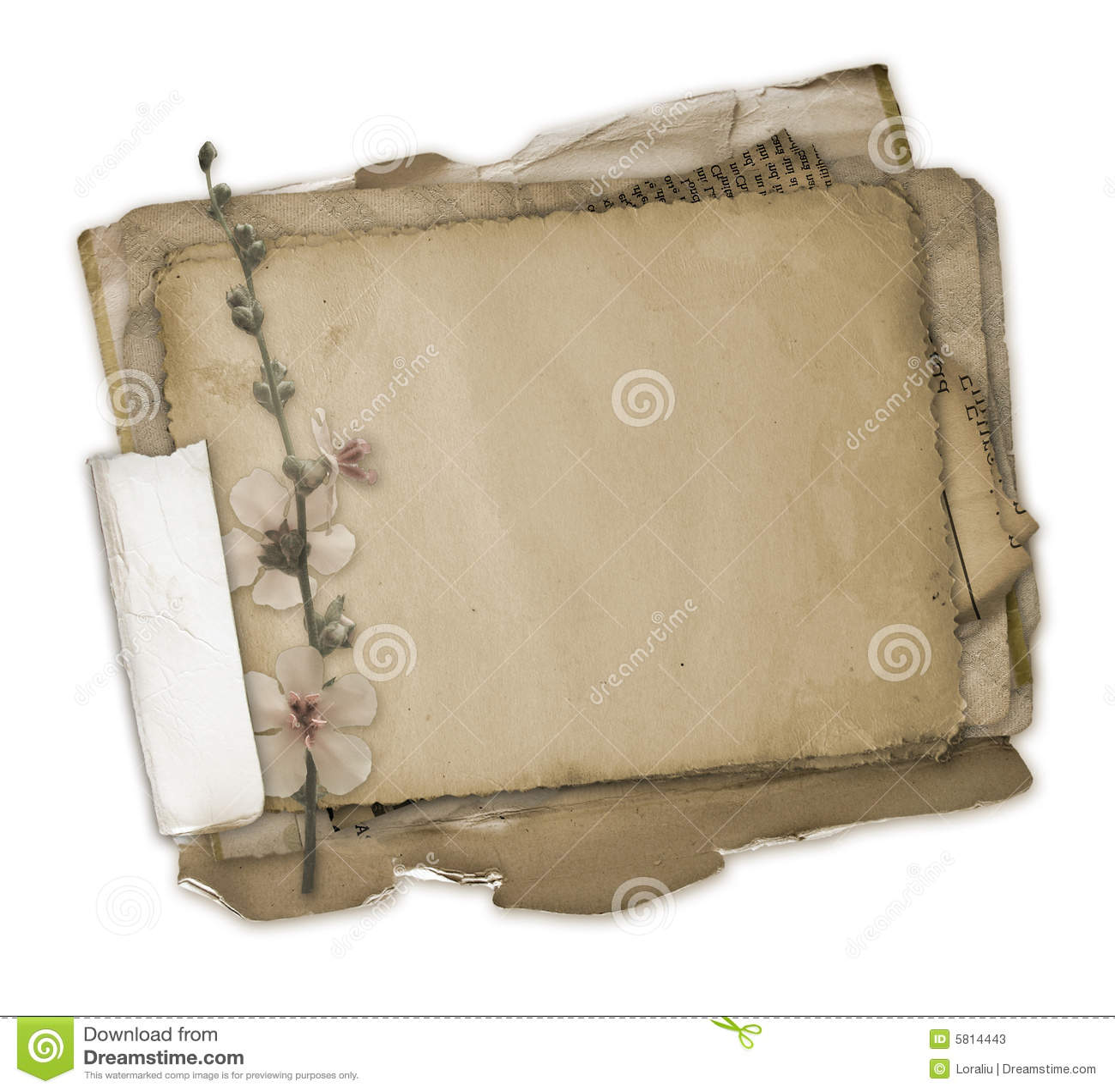Grunge papiery scrapbooking projektu