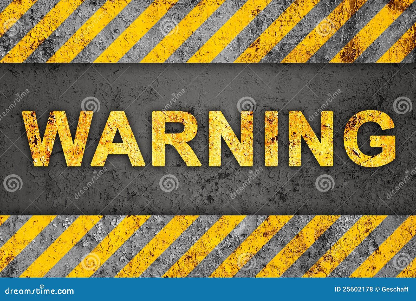 text warning black background - photo #17