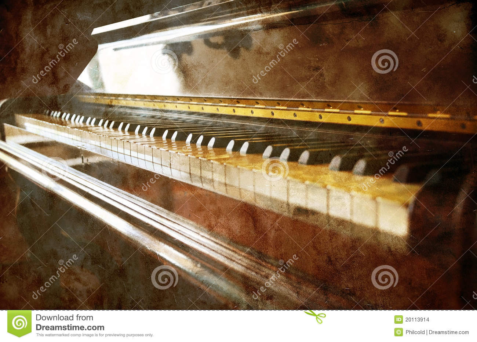 Grunge pianina rocznik
