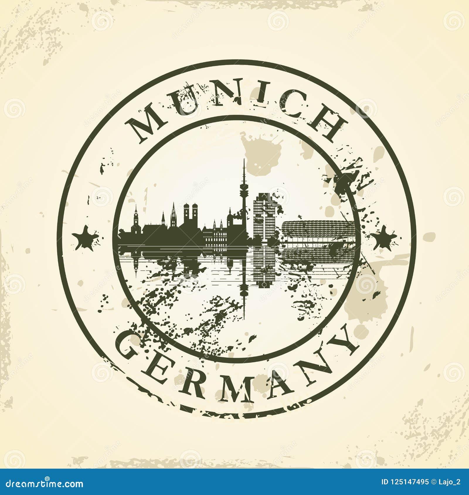 Grunge pieczątka z Monachium, Niemcy
