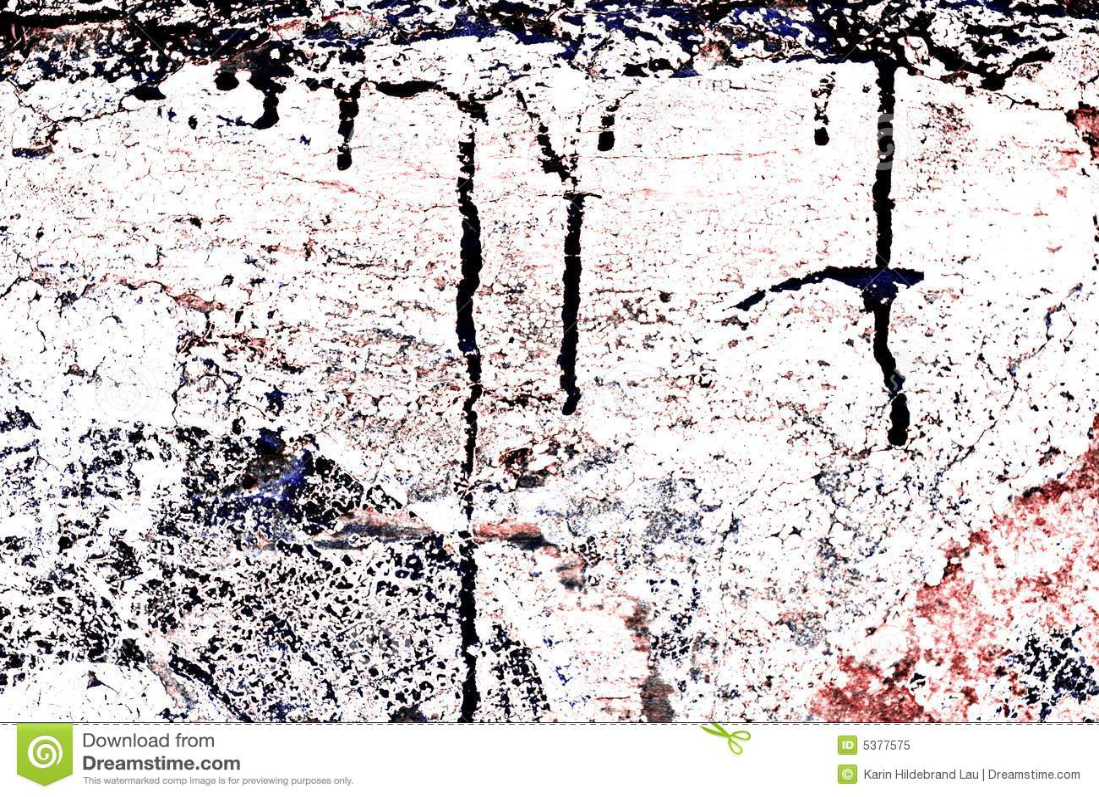 Grunge pintó la pared de ladrillo