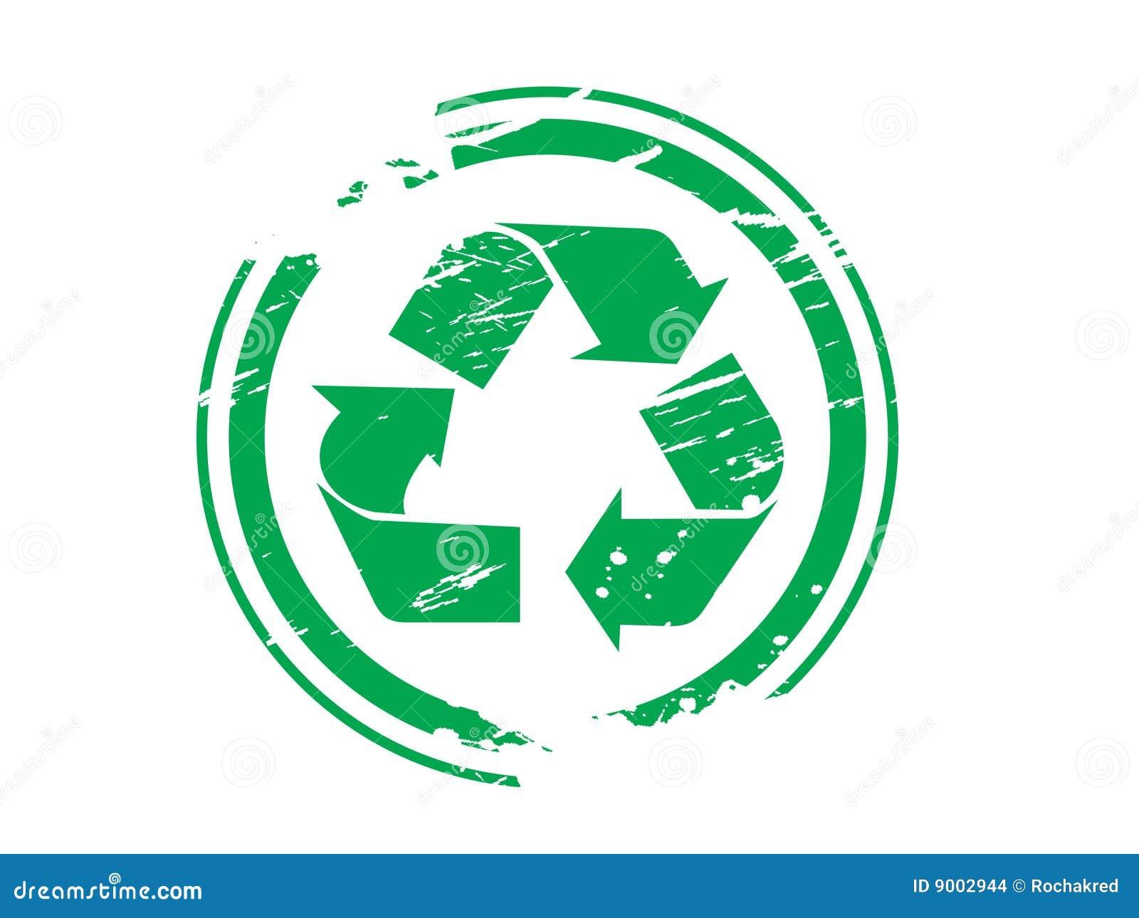 Grunge que recicla el caucho del símbolo