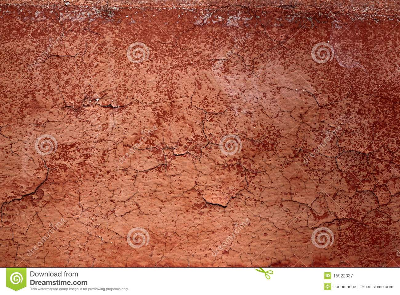 Grunge Red Brown Aged Crackle Wall Texture Royalty Free
