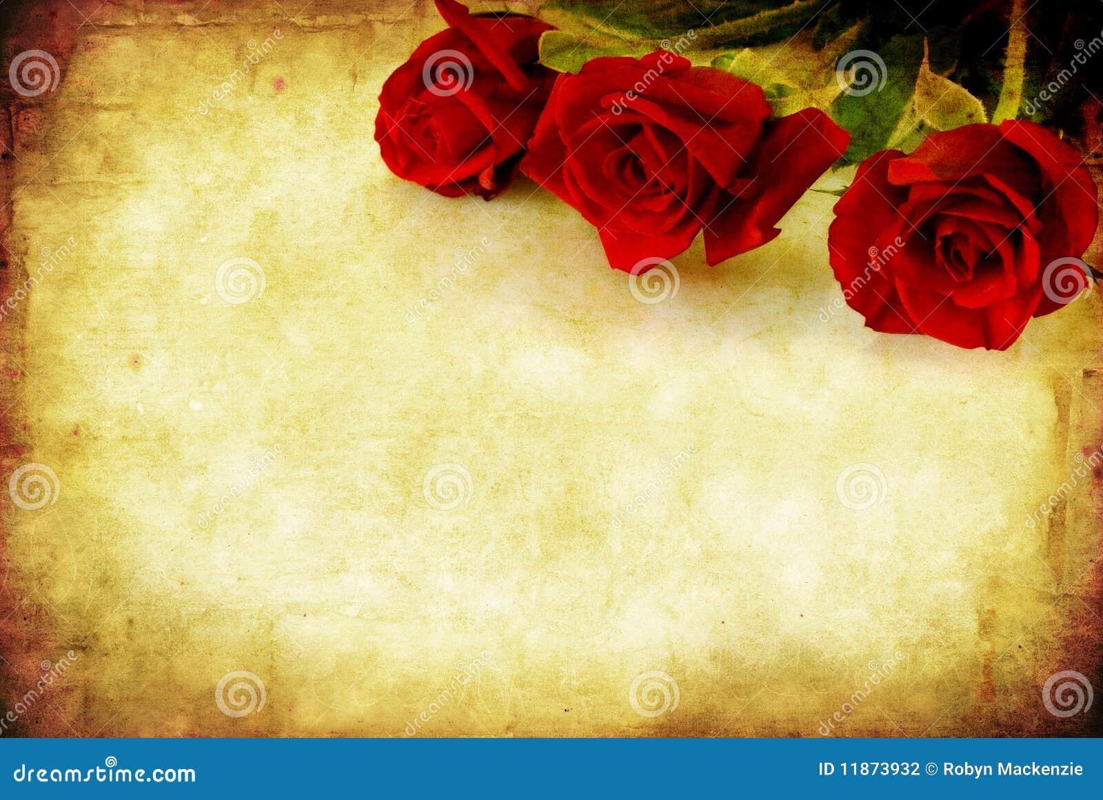 Grunge Red Roses