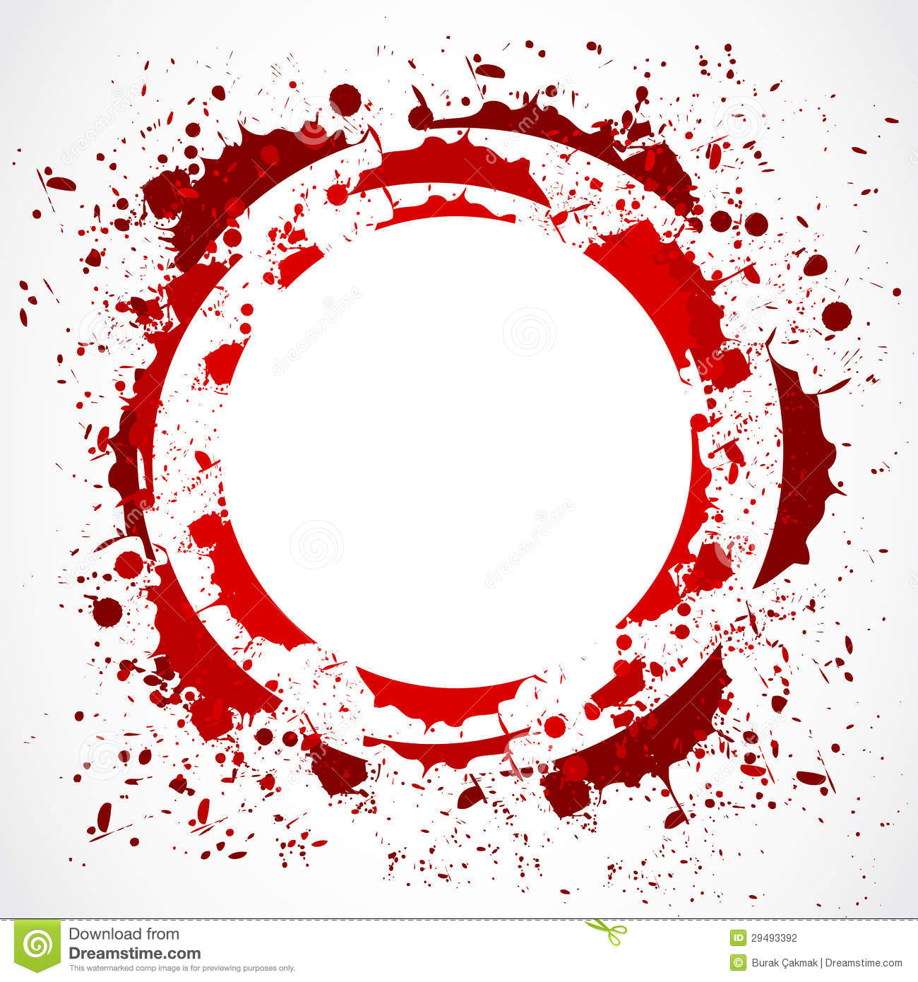 grunge red splash circle stock vector illustration of fluid 29493392 Blood Splatter No Background Blood Splatter Effect