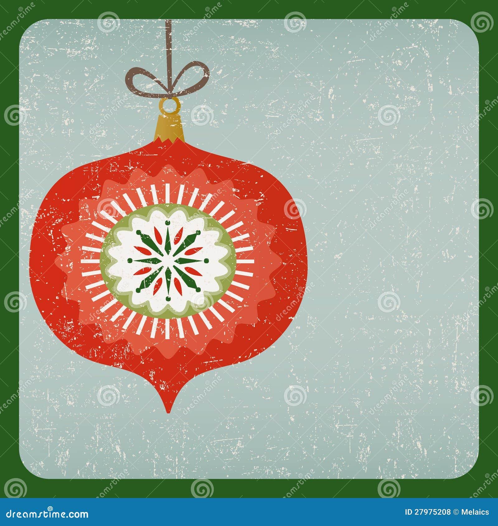 Grunge Retro Christmas Decoration Card Royalty Free Stock ...