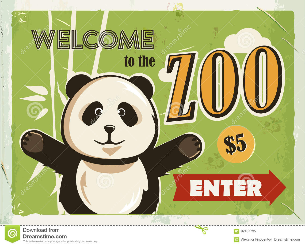 Zoo poster design - Welcome To The Zoo Vintage Poster Road
