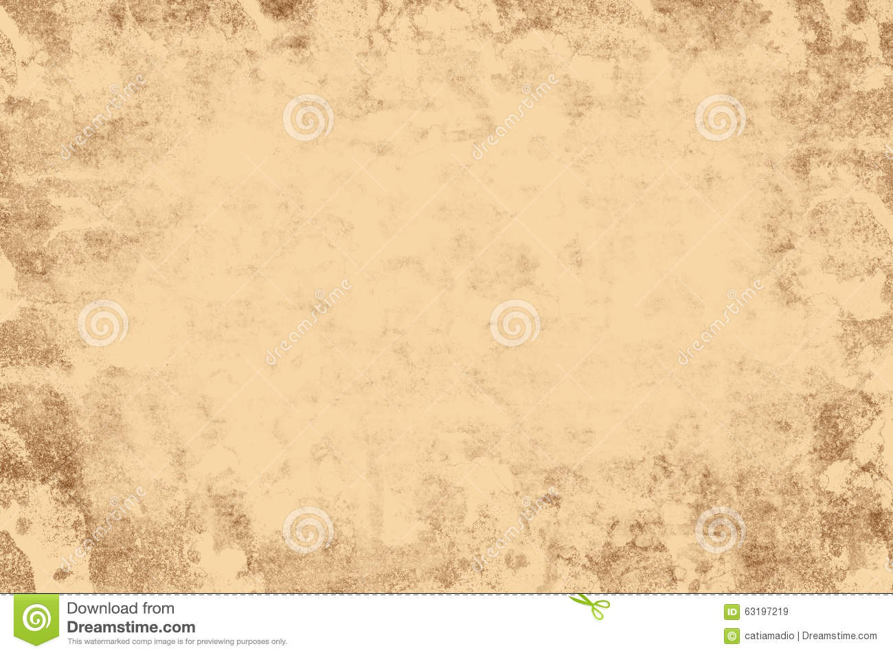 Grunge Retro Texture Light Brown Frame Stock Illustration ...