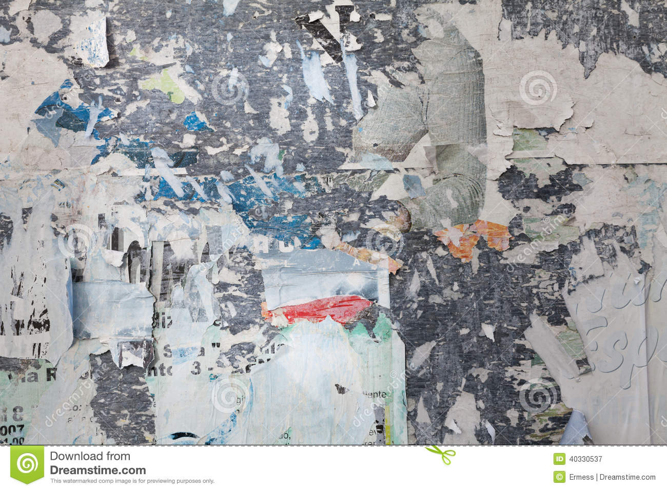 Grunge Ripped Poster Stock Photo Image 40330537