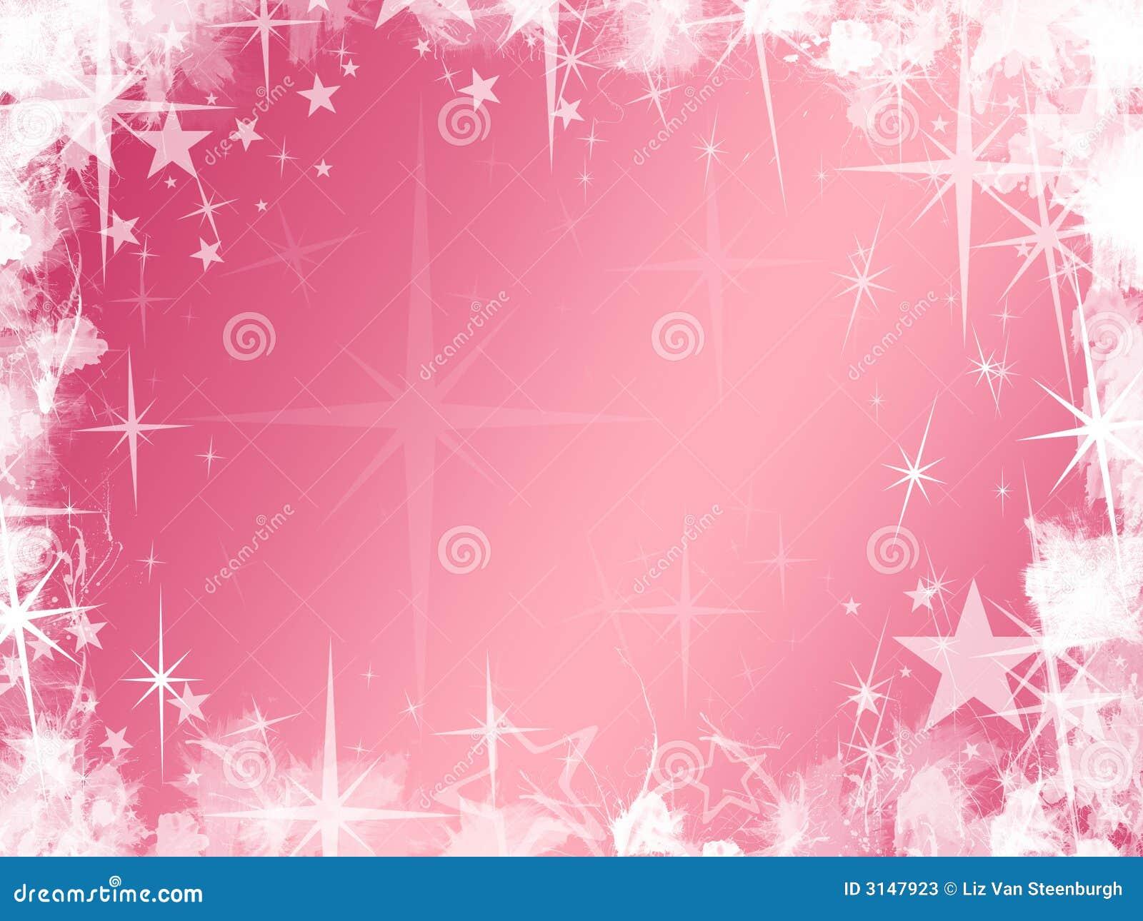 Grunge rosafarbener Stern-Hintergrund