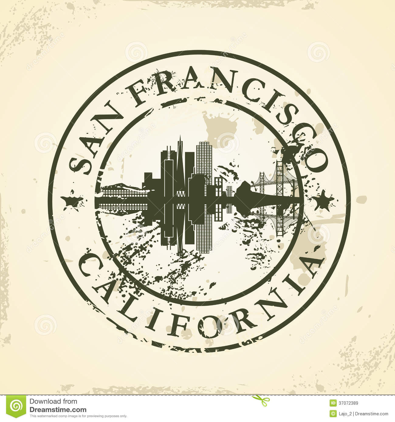 Grunge Rubber Stamp With San Francisco California Stock Vector - San francisco map vector free download