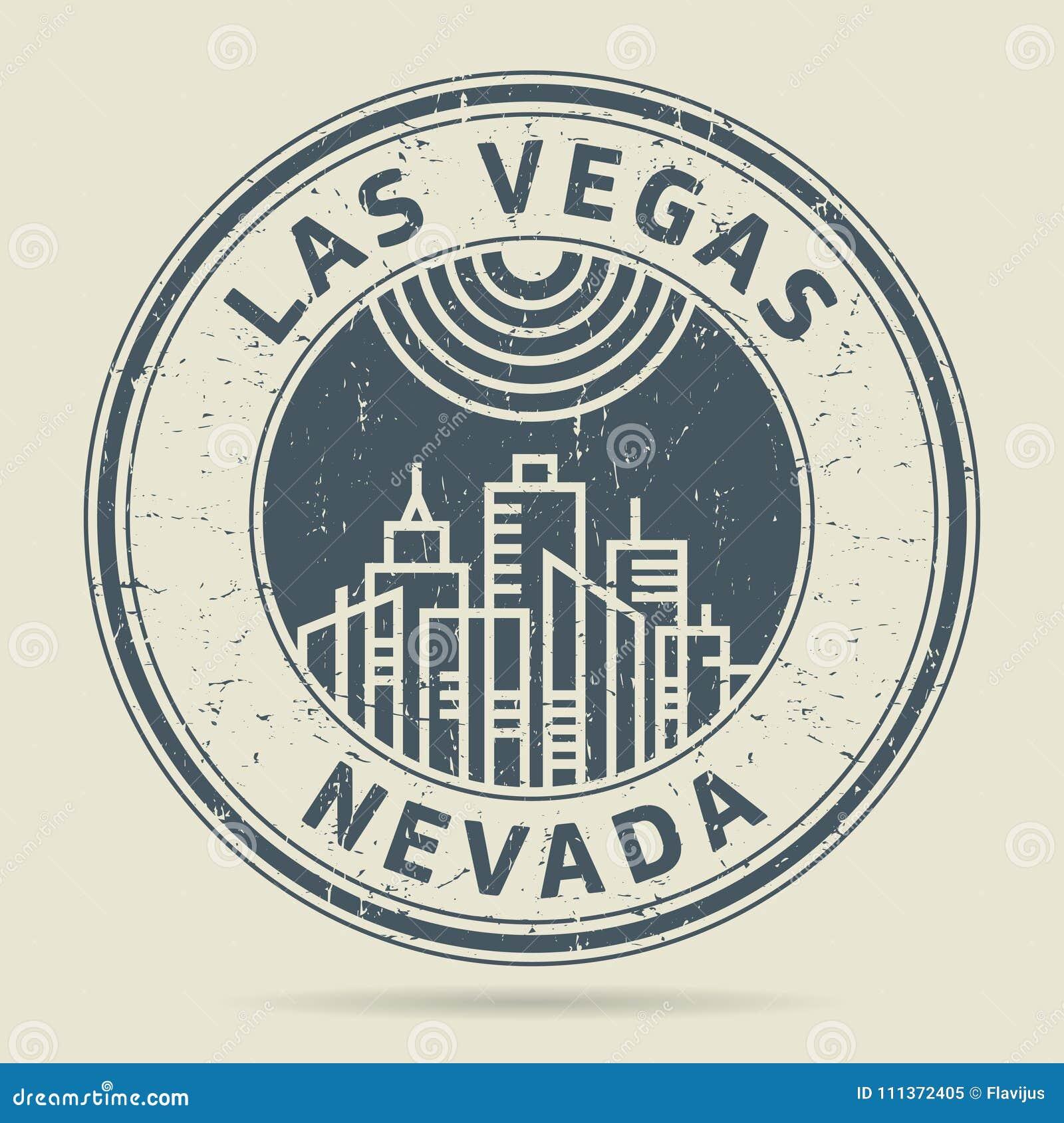 Grunge rubberzegel of etiket met tekst Las Vegas, Nevada