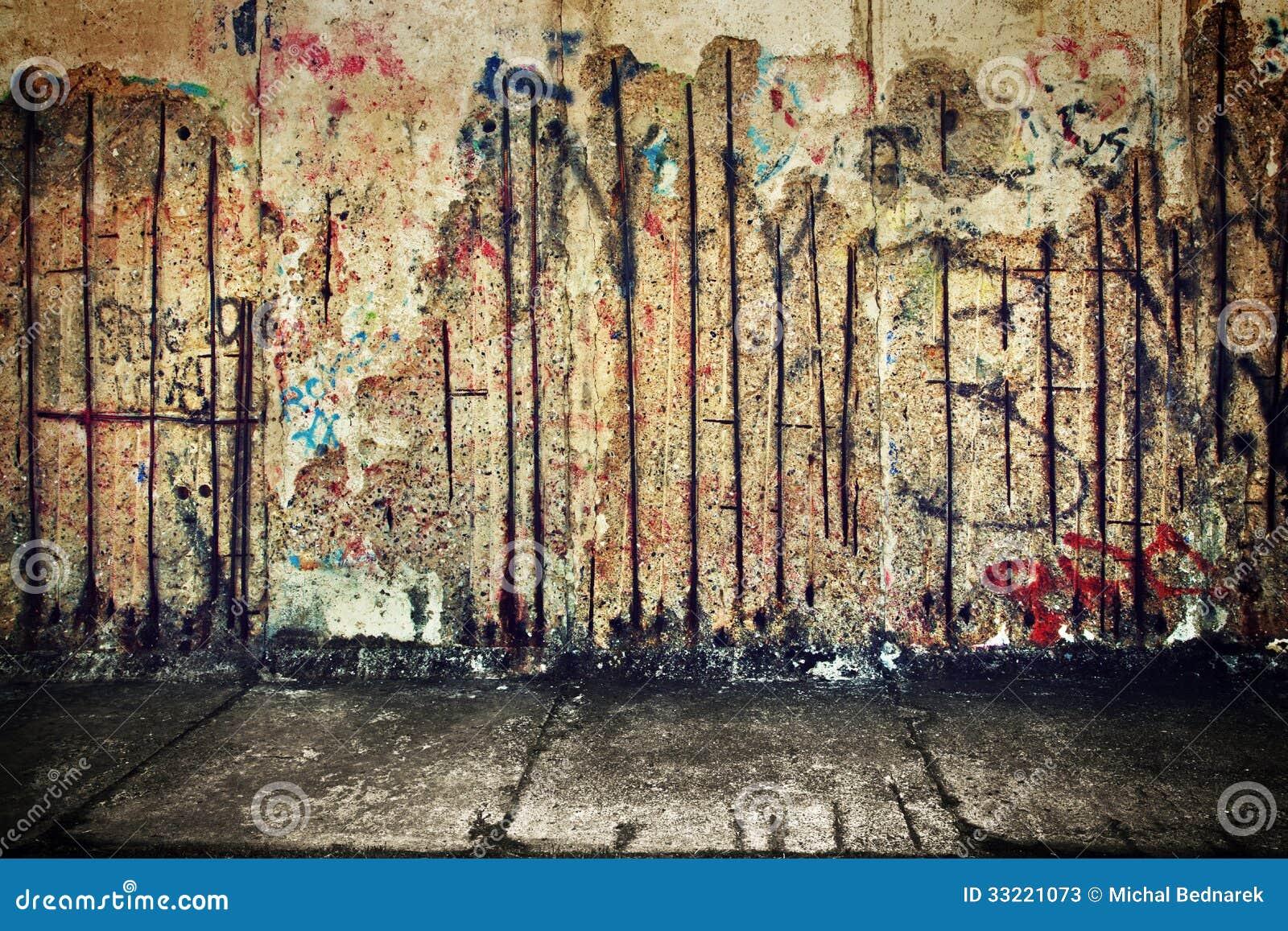 Cement Wall Graffiti : Grunge rusty concrete wall with random graffiti stock