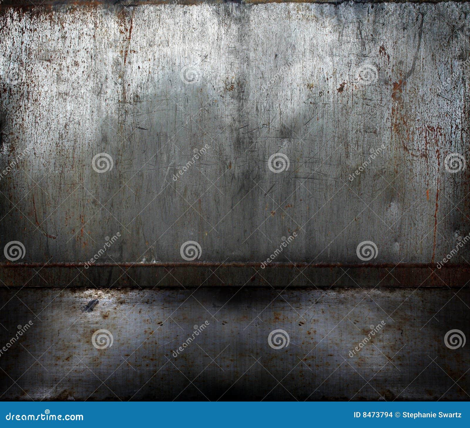 Grunge rusty metal room