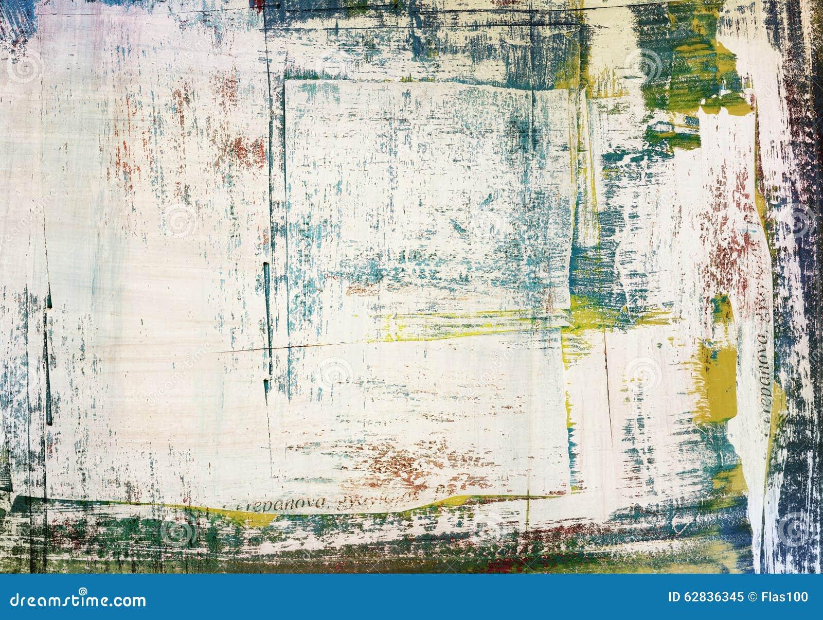 Grunge schilderde gescheurde document gebarsten collage,