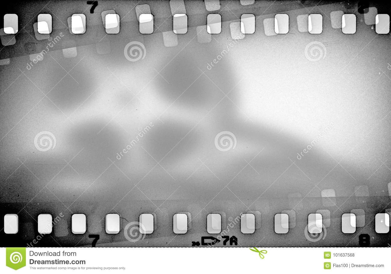 Grunge Camera Effect : Grunge scratched dirty film strip background with blurred effect