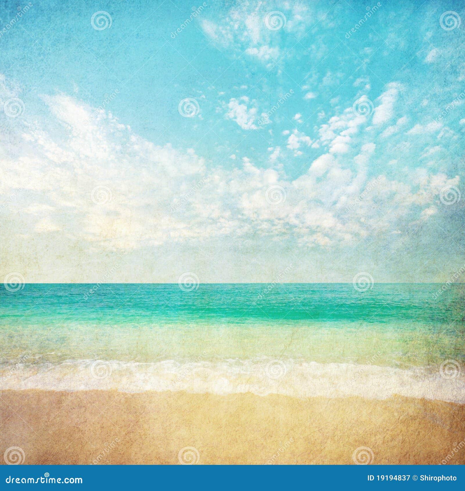 Grunge Sea Illustration Royalty Free Stock Photography