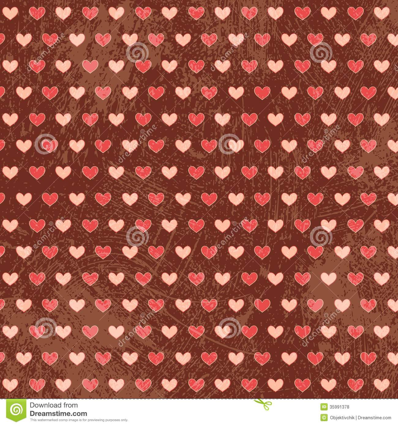 Grunge simply seamless small hearts on brown royalty free stock photos