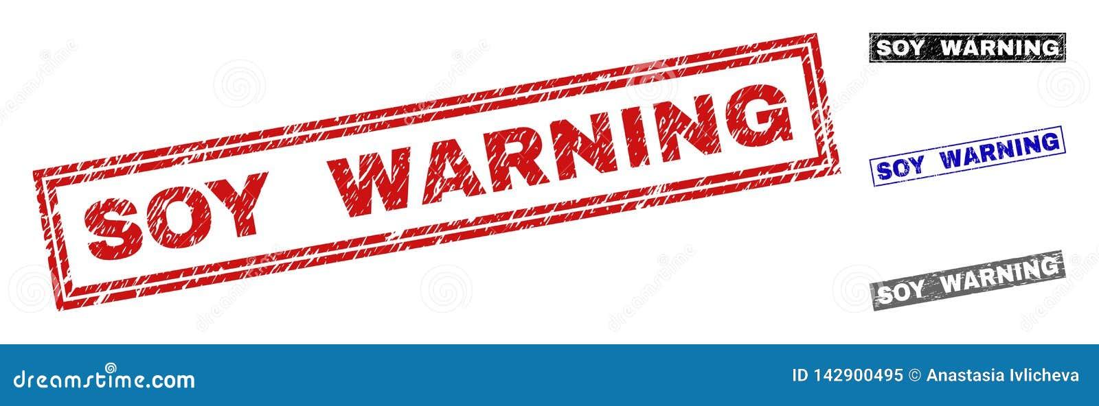 Grunge soj prostokąta znaczka ostrzeżenie Drapać foki