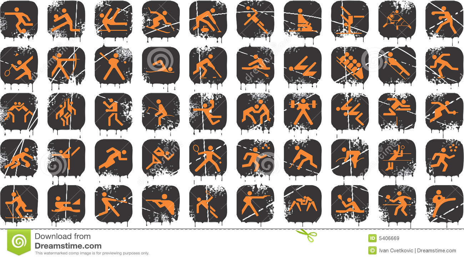 Grunge Sport Icons