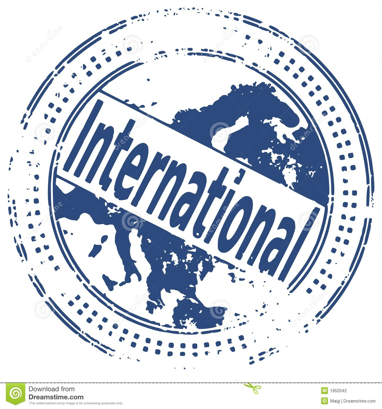 Grunge Stamp INTERNATIONAL Stock Photography Image 1952042