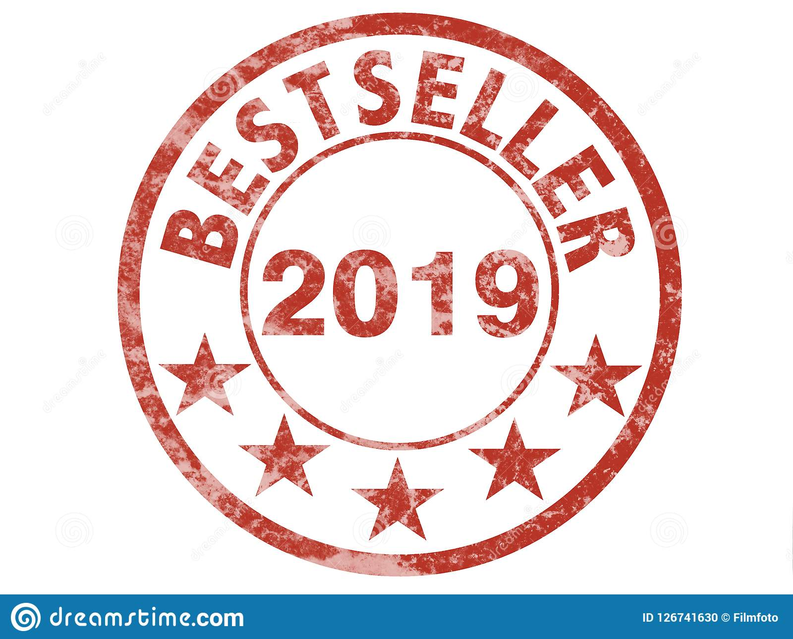 Best Seller 2019 Grunge Stamp Label For Bestseller 2019 Stock Illustration