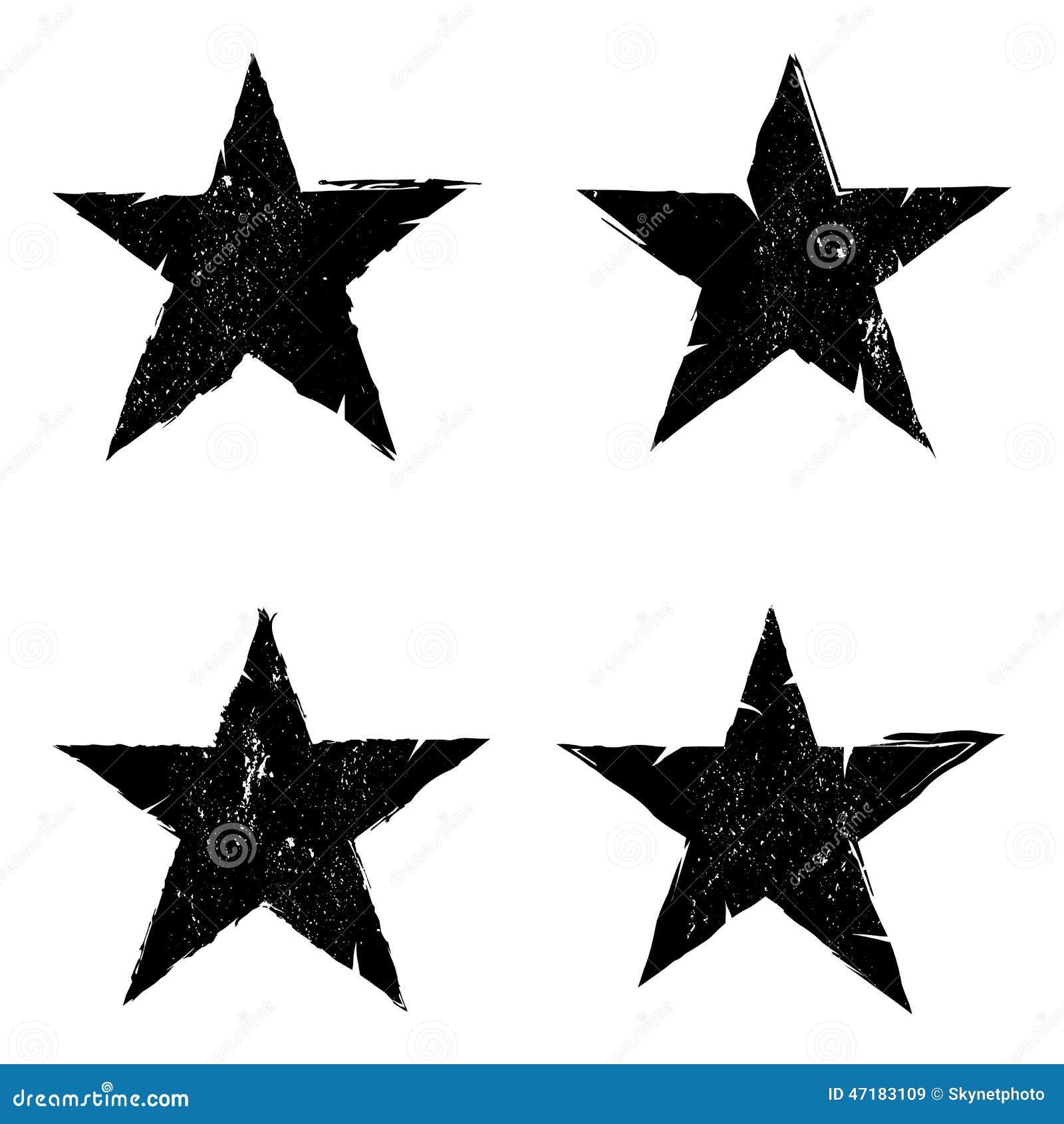 Grunge star background textures set